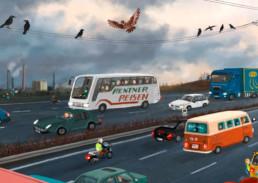 Autobahn im November
